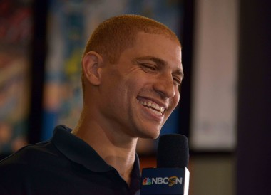 This is what Jimmy Graham looks like without a helmet.