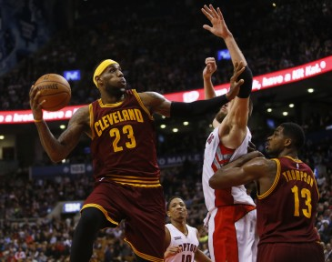 Here, this is LeBron James. Not getting fouled.