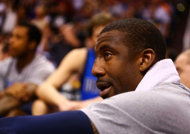 Amar'e in his current role with the Mavs. I'll spare you the wine bath photos swirling around the Internet.