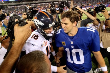 The NFL could clearly gain by allowing the Manning brothers to face off more than once every four seasons