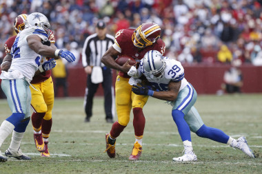 The Redskins need to prevent this form happening to RG3. Answer? Draft some linemen!