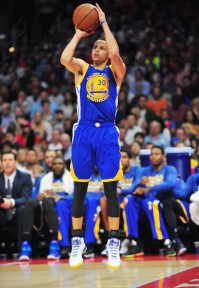 Curry leads the league officially with 284 3-pointers this season, and unofficially with 77 straight in practice