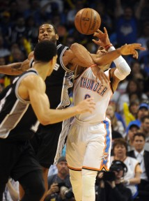 Westbrook doesn't have to get along with the Spurs, but he should be rooting for them on Wednesday