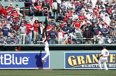 Betts robbed Bryce Harper of what was sure to be a two-run homer with an electrifying catch