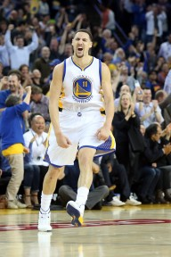 Klay Thompson went off for 26 second quarter points