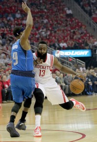 Rondo was abused by James Harden during his brief stint on the floor in Game 2