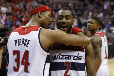 Paul Pierce is showing great guidance for the young John Wall. This is paying dividends in the crushing of the Raptors in the first round of this years NBA Playoffs.