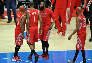 The Rockets were dead in the water, but wound up celebrating a season saving victory in L.A.