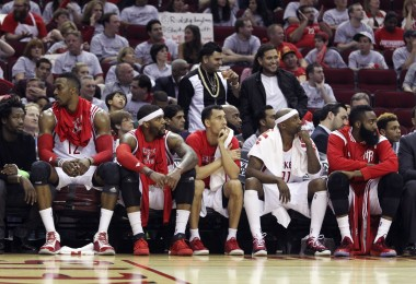 It's not a pretty sight in Houston right now. These look like the Rockets that were in a 3-1 hole vs. the Clippers.