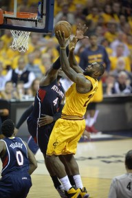 LeBron was dominating the Hawks around the rim in Game 3
