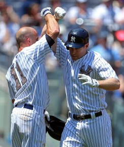 The Yankees were all over Guthrie literally from the first pitch on Memorial Day.