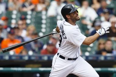 Martinez hits one of his three home runs last night