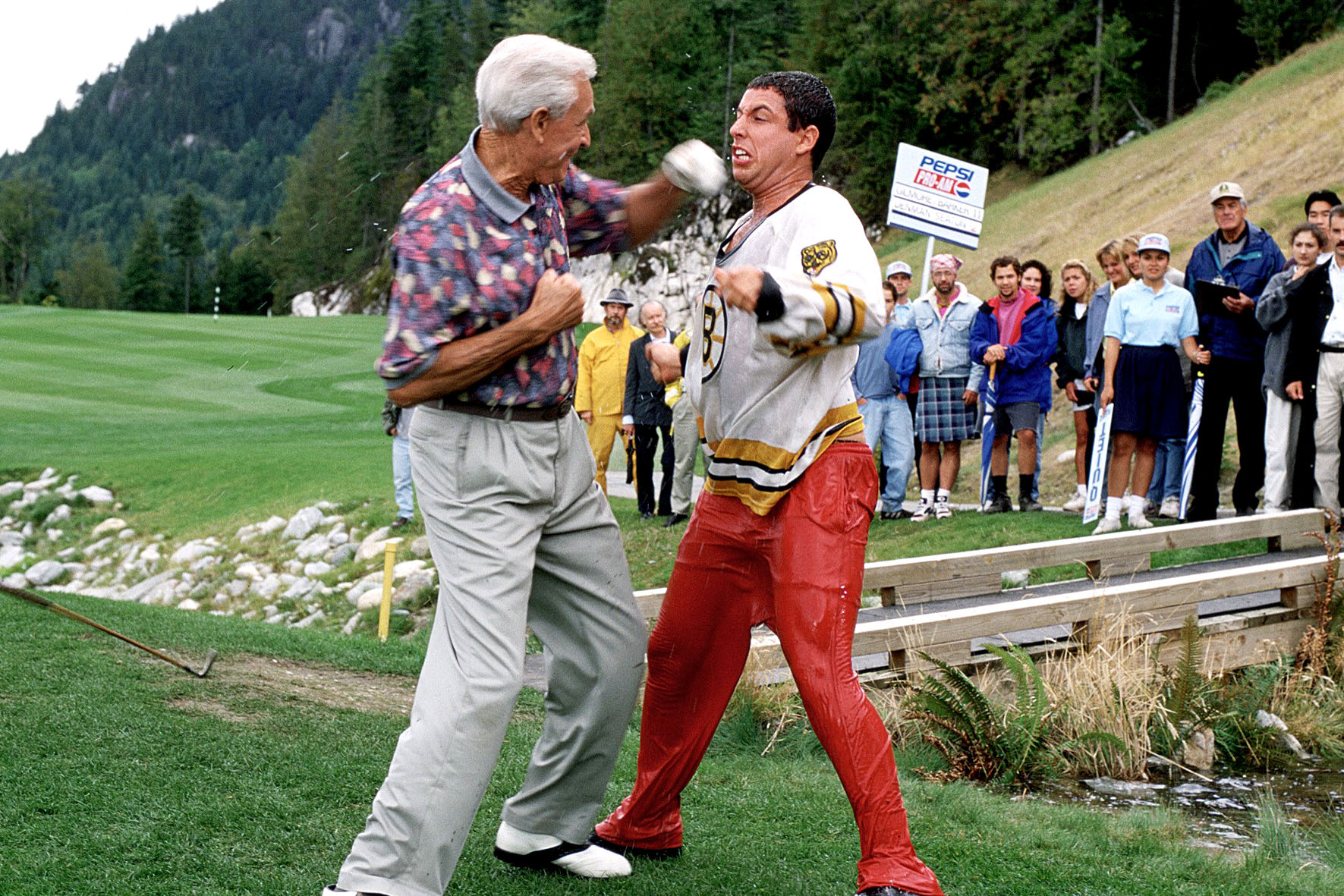 HAPPY GILMORE, Bob Barker, Adam Sandler, 1996, (c) Universal/courtesy Everett Collection  FILM STILL