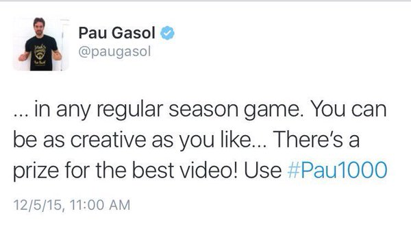 Pau Gasol Tweet 2