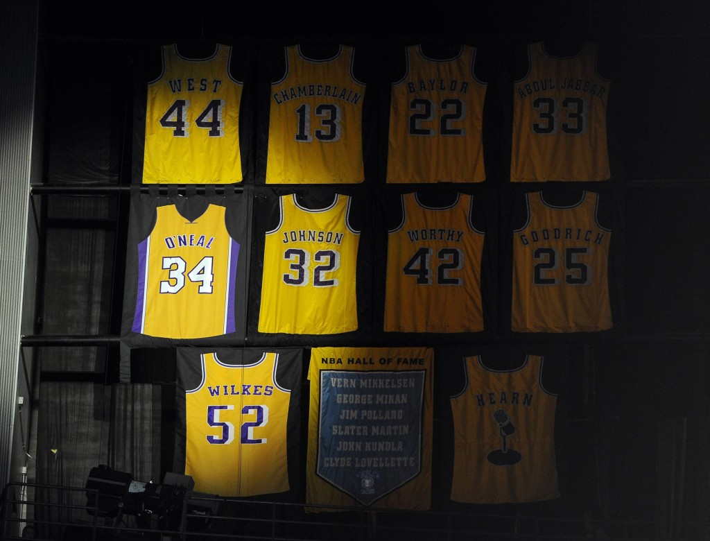 lakers retired numbers
