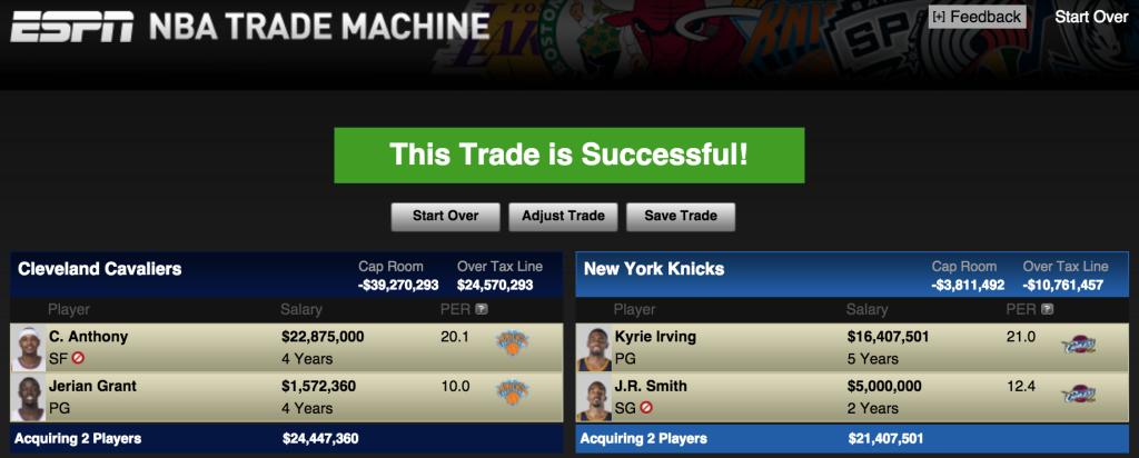 Kyrie Knicks Trade