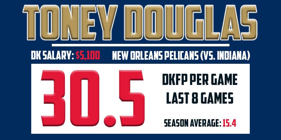 Toney Douglas Stats - March 24th