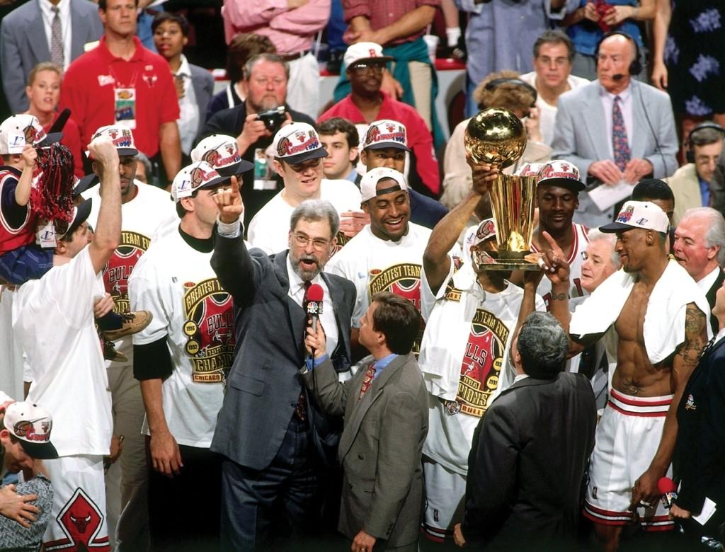 1996-06-16-Gm-6-v-SEA-1996-NBA-Finals-Phil-Jackson-Chmp-Celbrtn-NBAE