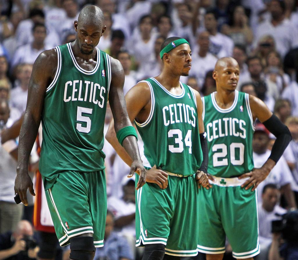 Celtics Pierce Garnett Allen