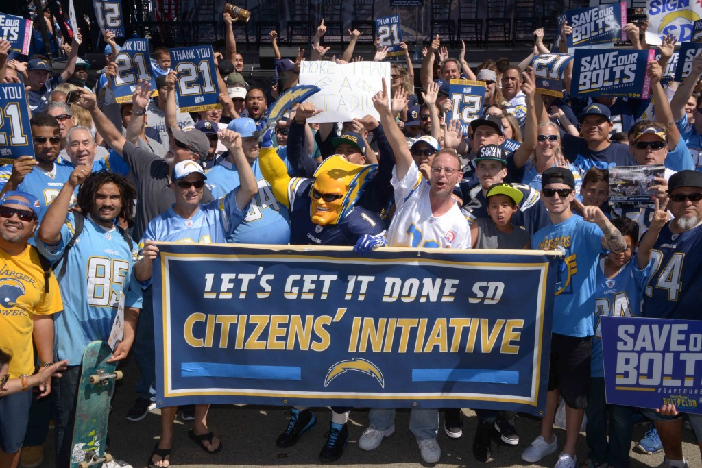 NFL: San Diego Chargers Stadium Initiative Rally