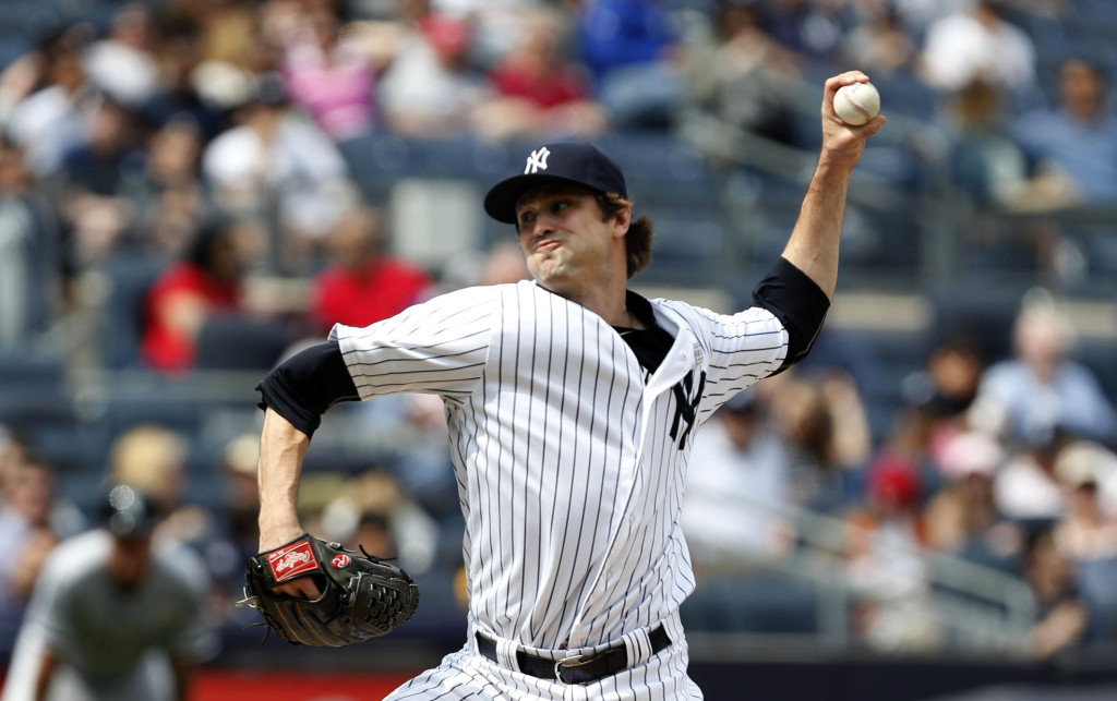 May 14, 2016; Bronx, NY, USA;  New York Yankees relief pitcher Andrew Miller (48) delivers a pitch against the Chicago White Sox  at Yankee Stadium. Mandatory Credit: Noah K. Murray-USA TODAY Sports