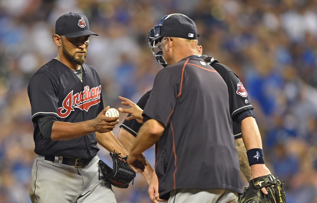 MLB: Cleveland Indians at Kansas City Royals