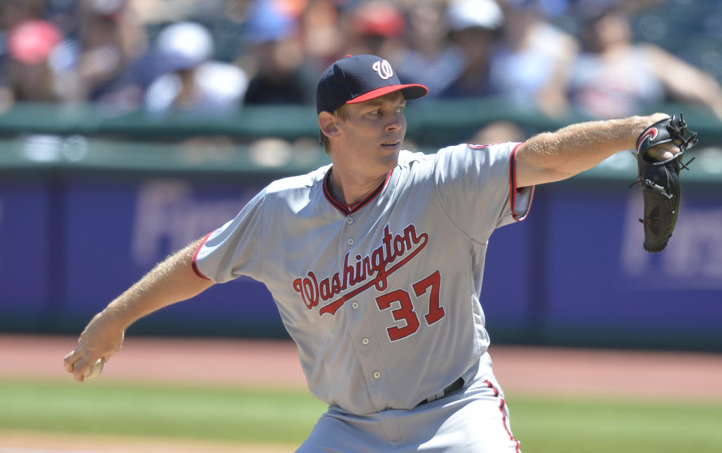 MLB: Washington Nationals at Cleveland Indians