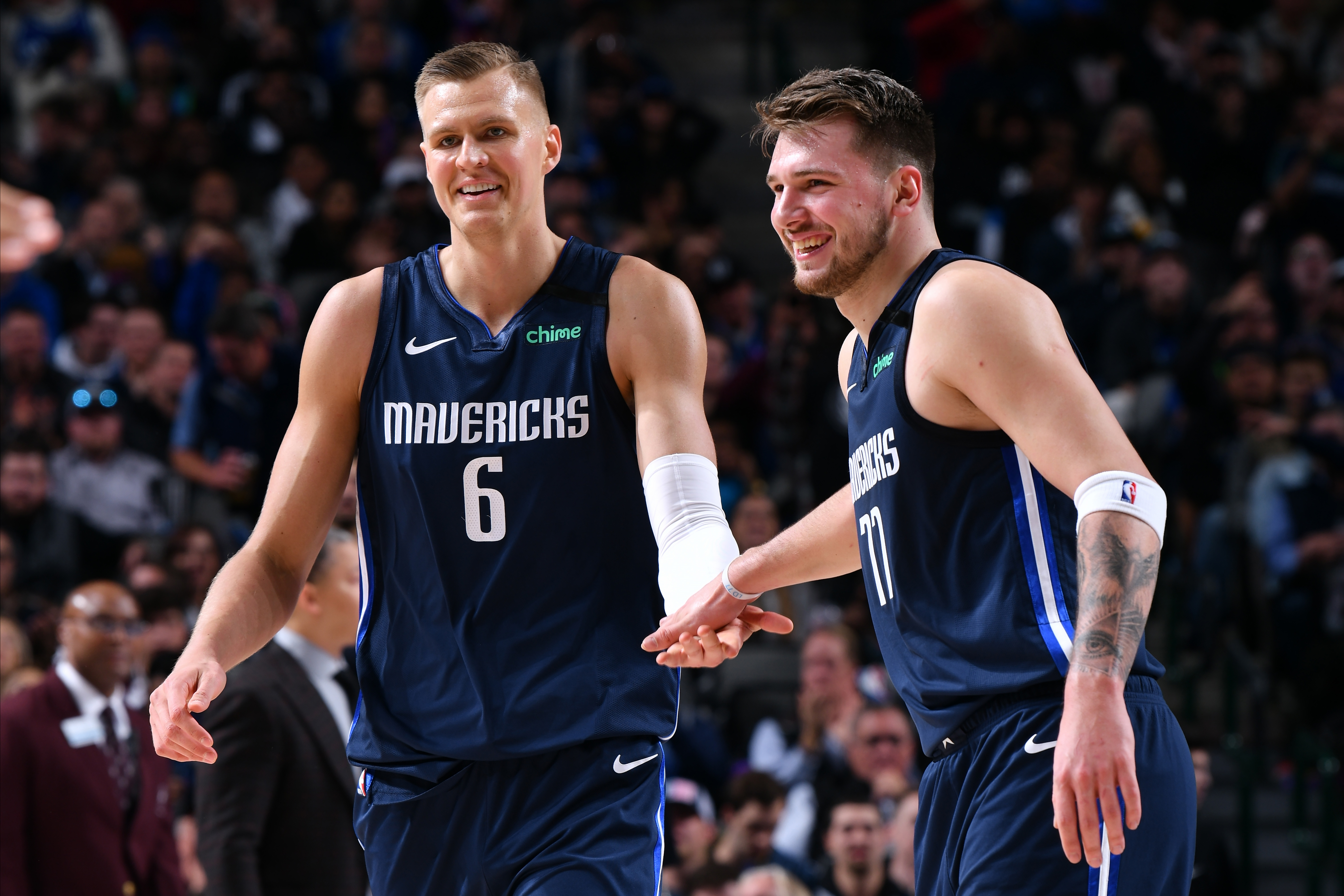 Luka Doncic and Kristaps Porzingis