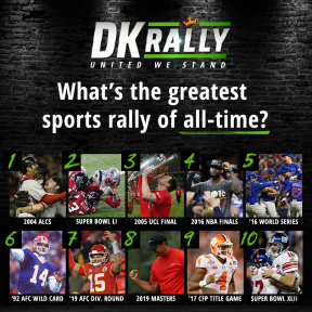 DK Rally: Counting Down the Greatest Rallies in Sports