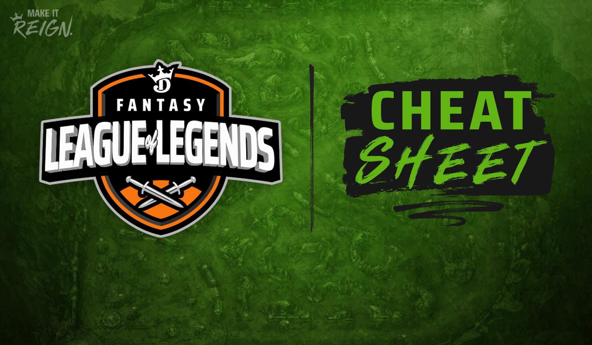 League of Legends Cheat Sheet