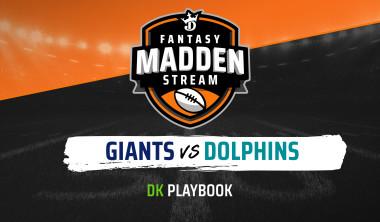 Madden Stream: Giants vs. Dolphins Final Box Score