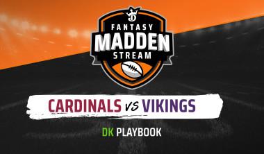 Madden Stream: Cardinals vs. Vikings DraftKings Showdown Strategies, Depth Charts and Captain's Picks
