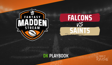 Madden Stream: Falcons vs. Saints DraftKings DFS Showdown Strategies, Depth Charts And Captain's Picks