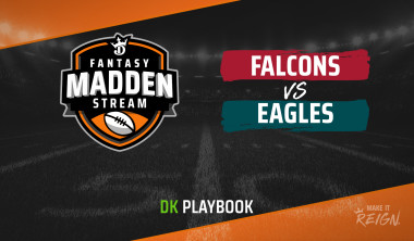 Madden Stream: Falcons vs. Eagles DraftKings Showdown Strategies, Depth Charts and Captain's Picks