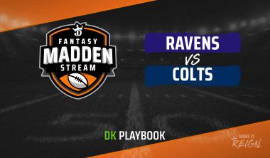 Madden Stream: Ravens vs. Colts DraftKings Showdown Strategies, Depth Charts and Captain's Picks