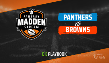 Madden Stream: Panthers vs. Browns DraftKings Showdown Strategies, Depth Charts and Captain's Picks