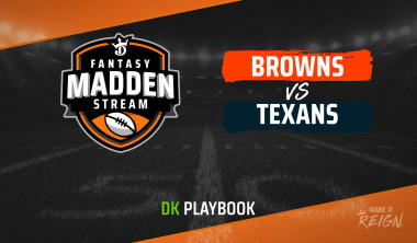 Madden Stream: Texans vs. Browns DraftKings Showdown Strategies, Depth Charts and Captain's Picks
