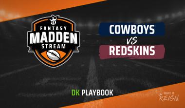 Madden Stream: Cowboys vs. Redskins DraftKings Showdown Strategies, Depth Charts and Captain's Picks
