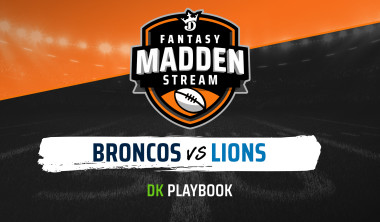 Madden Stream: Broncos vs. Lions DraftKings DFS Showdown Strategies, Depth Charts And Captain's Picks