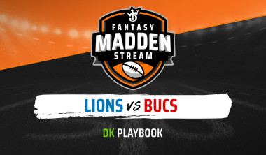 Madden Stream: Lions vs. Buccaneers DraftKings Showdown Strategies, Depth Charts and Captain's Picks