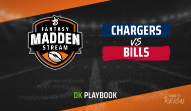 Madden Stream: Chargers vs. Bills DraftKings Showdown Strategies, Depth Charts and Captain's Picks