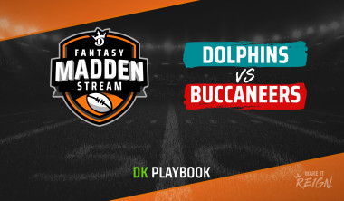 Madden Stream: Dolphins vs. Buccaneers DraftKings Showdown Strategies, Depth Charts and Captain's Picks