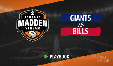 Madden Stream: Giants vs. Bills DraftKings Showdown Strategies, Depth Charts and Captain's Picks