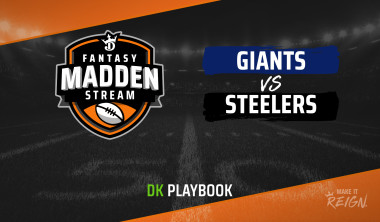 Madden Stream: Giants vs. Steelers DraftKings Showdown Strategies, Depth Charts and Captain's Picks