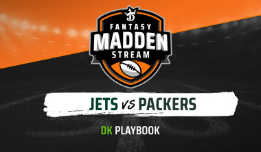 Madden Stream: Jets vs. Packers DraftKings Showdown Strategies, Depth Charts and Captain's Picks