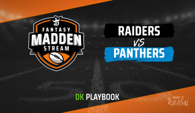 Madden Stream: Raiders vs. Panthers DraftKings Showdown Strategies, Depth Charts and Captain's Picks