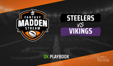 Madden Stream: Steelers vs. Vikings DraftKings Showdown Strategies, Depth Charts and Captain's Picks