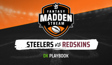 Madden Stream: Steelers vs. Redskins DraftKings Showdown Strategies, Depth Charts and Captain's Picks