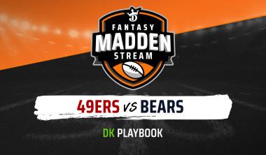 Madden Stream: 49ers vs. Bears DraftKings Showdown Strategies, Depth Charts and Captain's Picks