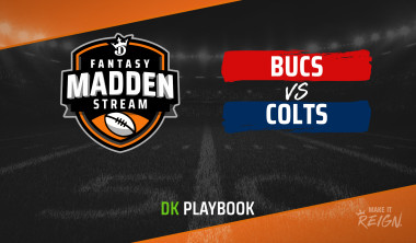 Madden Stream: Buccaneers vs. Colts DraftKings Showdown Strategies, Depth Charts and Captain's Picks
